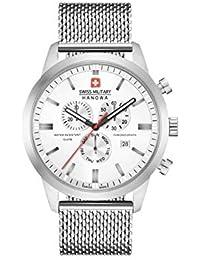 Swiss Military Hommes Chronographe Quartz Montre avec Bracelet en Acier Inoxydable 06-3308.04.001