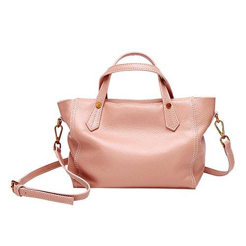 Mena Uk Borse grandi della borsa di cuoio molle di stile di modo delle donne e della signora Bare pink