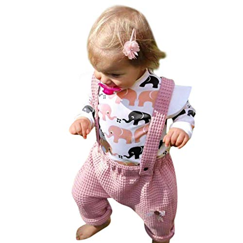 2pcs Ropa Conjuntos Tops Camiseta Manga Larga Conjuntos Niña Toddler Baby Girls...