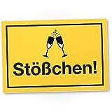 DankeDir! Stößchen, Kunststoff Schild mit Spruch - lustiges Geschenk für Ihn, Geschenkidee Geburtstagsgeschenk Männer/Jungs, Party Deko Zubehör, Scherzartikel JGA - Accessoire Fotobox