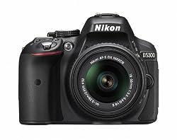 Nikon D5300 24.2 MP CMOS Digital SLR Camera with 18-55mm f/3.5-5.6G ED VR II Auto Focus-S DX NIKKOR Zoom Lens - International Version (No)