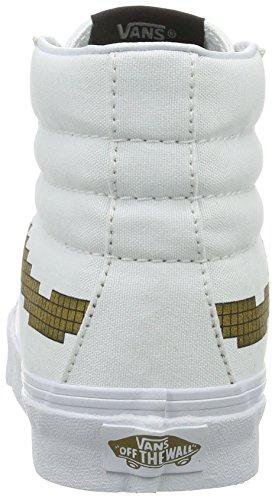 Vans Sk8-Hi Slim, Sneakers Hautes Mixte Adulte Blanc ((Nintendo) Console/gold)