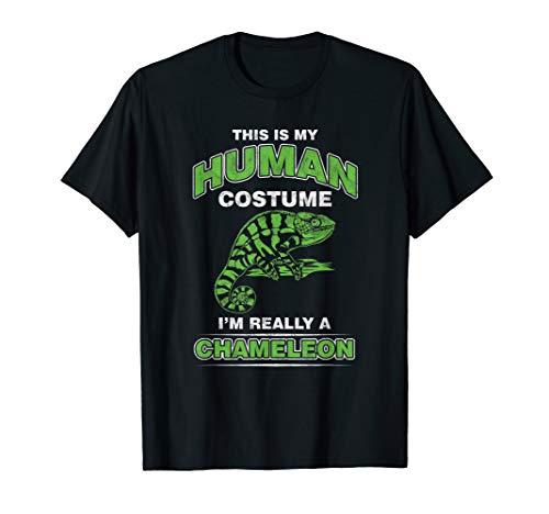 Reptilien-Fan Chamäleon T-Shirt Eidechse Kostüme - Reptilien Kostüm