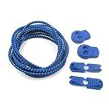 BEAYPINE - Cordones elásticos para Zapatos con Sistema de Bloqueo, fácil de Instalar para Correr y triatlón, Corredores de maratón y triatlón, niños, Ancianos, etc, Azul