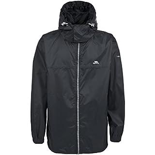 Trespass Packup Jacket, Black, M, Compact Packaway Waterproof Jacket with Hood Adult Unisex, Medium, Black