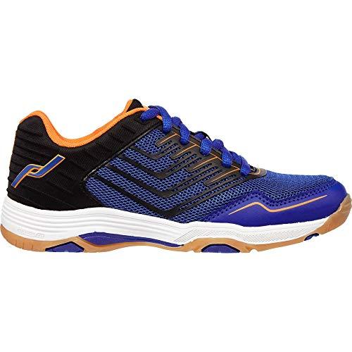 Pro Touch Unisex Kinder Rebel 3 Volleyball-Schuh, Blue/Black/Orange -