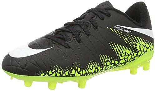 Nike 744943-017, Scarpe da Calcio Bambino Nero (Black/white-volt-paramount Blue)