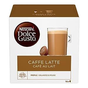 NESCAFÉ DOLCE GUSTO Caffelatte Caffè con Latte, 3 Confezioni da 16 Capsule (48 Capsule)