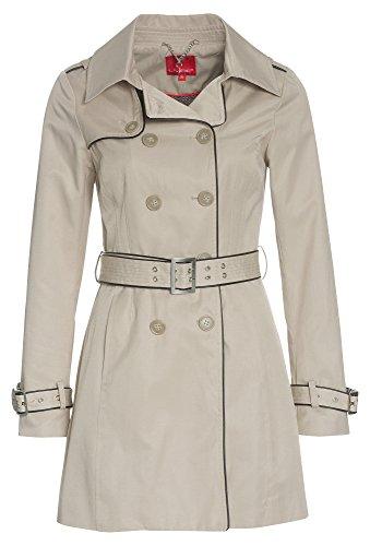 LIVRE-Damen-Trenchcoat-mit-Kunstleder-Damen-TrenchcoatTrenchcoatDamen-Mantel