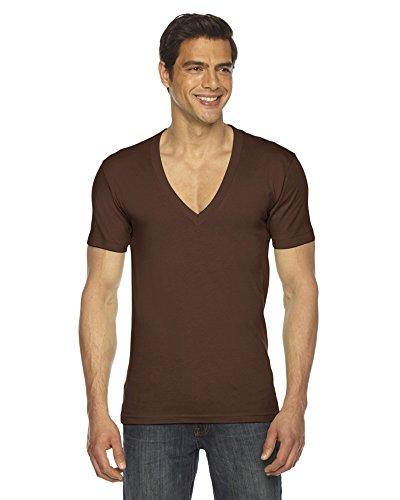 american-apparel-camicia-casual-abbigliamento-uomo-brown-us-small