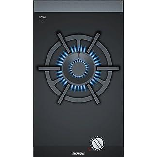 Siemens ER3A6AD70 hobs Negro Integrado Encimera de gas – Placa (Negro, Integrado, Encimera de gas, Vidrio y cerámica, 6000 W, hierro fundido)