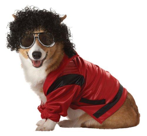 Hund Kostüm, rot/schwarz (Trick Or Treat Lustige Hunde Halloween)