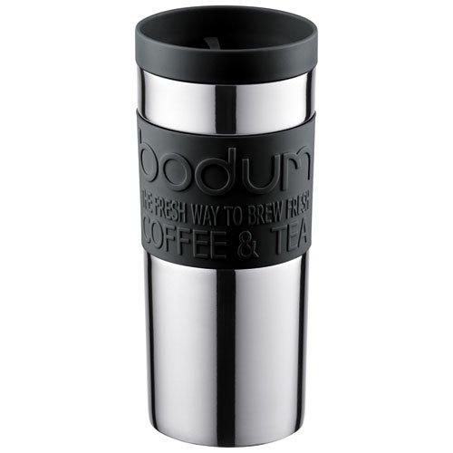 Bodum 11093-01 Mug de Voyage Double Paroi Acier Inoxydable Noir 0,35 L
