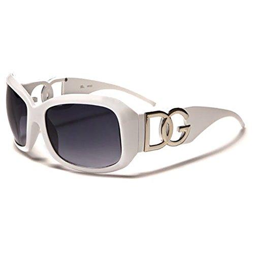 DG Eyewear ® Sonnenbrillen für Frauen Übergroße Designer Sonnenbrille 2017 - Weiß UV400 (UVA & UVB) - Mode Sonnenbrillen Damen