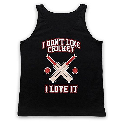 I Don't Like Cricket I Love It Tank-Top Weste Schwarz