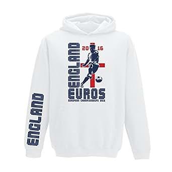 Unisex Erwachsene Kapuzenpullover, Fußball Europameisterschaft 2016, alle 24teilnehmendenMannschaften erhältlich, Größen XS-5XL – 2XL 52 – England Navy
