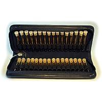 Große leere Taschenapotheke,schwarz,mit 30 leeren UV-Schutz-Glasröhrchen in einem hochwertigen Leder Etui mit... preisvergleich bei billige-tabletten.eu
