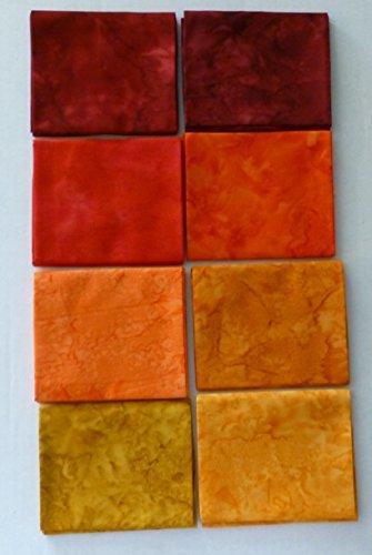Artisan Batik Prisma coloranti, Lava Flow Colorstory di Robert Kaufman Fat Quarter, scuri, confezione da 7,#1 gruppo