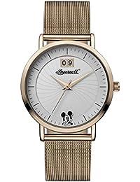 Ingersoll ID00504 - Reloj Cuarzo Disney para Mujer, Color Blanco y marrón