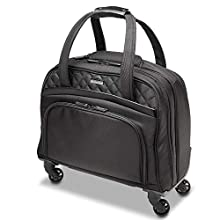"""Kensington Laptop Roller Case - Contour 2.0 Executive Balance Laptop Spinner for up to 15.6"""" Inch Laptops, Wheeled Laptop Case with Tote Bag Style, Ideal Cabin Bag for Women (K60380WW) Black"""
