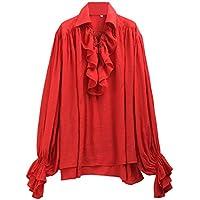 GRACEART Uomo Pirata Camicia Medievale Costume e9c0c367359