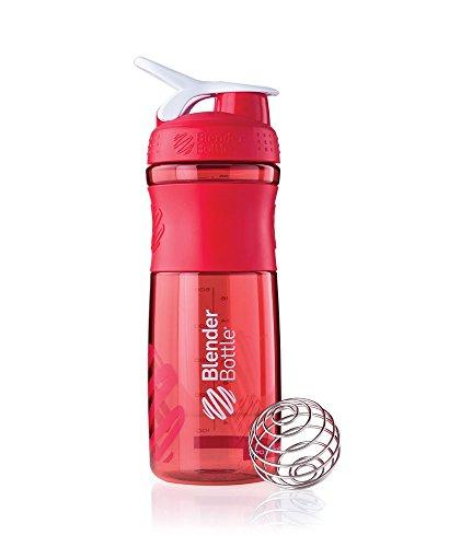 blender-bottle-sportmixer-proteine-shaker-bouteille-deau-rouge-transparent-820-ml