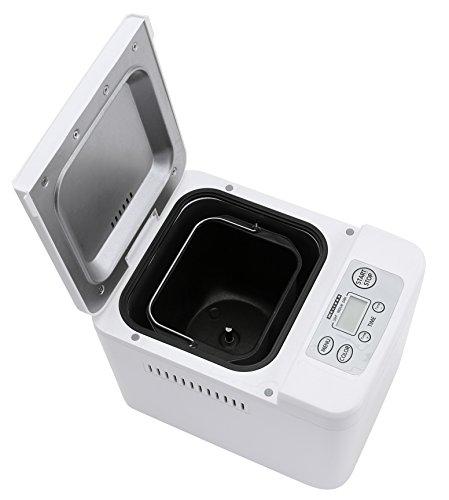 Melissa Brotbackautomat antihaftbeschichtet mit Warmhaltefunktion und Auto-Start Timer 480-580 Watt Brotmaschine inklusive Knethaken, Messbecher und Löffel