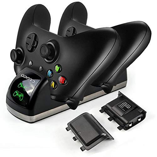 Xbox One Controller akku Ladestation Dual Ladestation mit 2X 1200mAh Akku LED Display für Xbox One/One S/One X - Akku Controller One Xbox