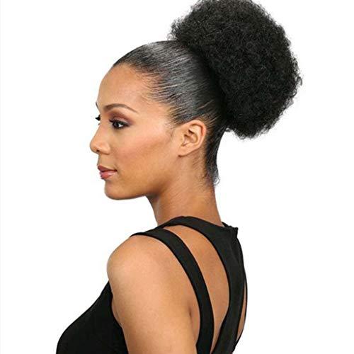 Afro puff Pferdeschwanz Damen Inhaber Haarteil Afro Puff Perücke Haar Ring Brötchen SSUDADY Haarballenkopf Haarballenkopf Blumengarten Explosive Kopfperücke D (Perücken Puff Afro)