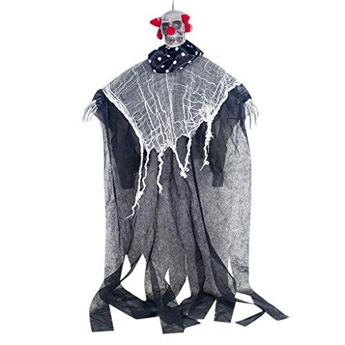 Sensenmann Kostüm Haus - QHJ Halloween Accessoires, Halloween Hanging Pirate Dekoration Hexe Gefangener Reaper Ghost Anhänger Türklingel Dekoration für Haus Garten Hof Veranda Bar Party in Halloween (B)