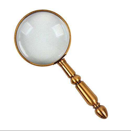 Magnifier 20-mal Vollmetall handheld alter Mann Lesung Lupe zu lesen High-Definition-optisches Glas 68mm Objektiv für, Senior, Low Vision, Bücher, Karte, Inspektion, Handwerk Hobby