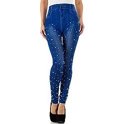 Ital-Design - Leggings - Jegging - para Mujer Azul Talla única