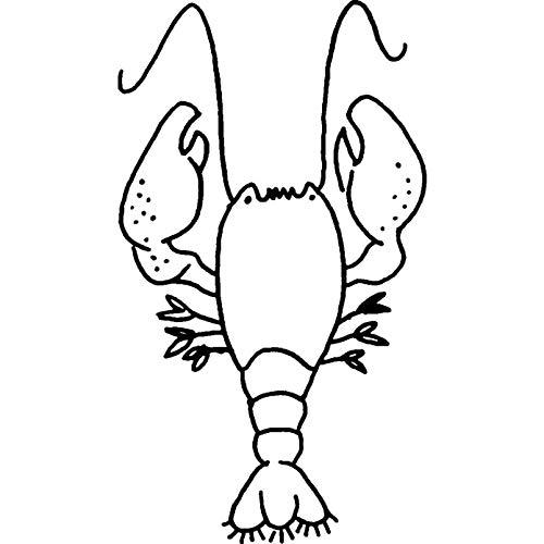 Azeeda A8 'Hummer Meer Kreatur' Stempel (Unmontiert) (RS00028289) (Spielzeug Kreatur Meer)