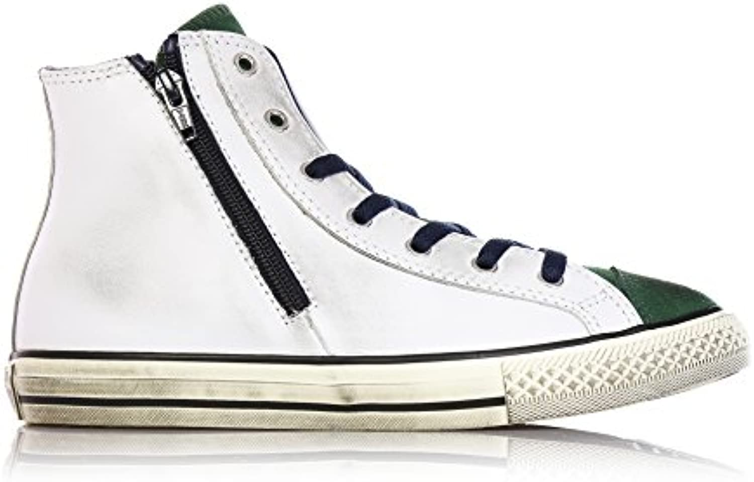 CONVERSE 646383C white pine all all all star leather hi ct side zip 099f66