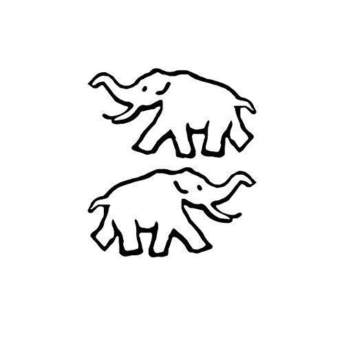 Aufkleber / Sticker sPzAbt 502 schwere Panzer Abteilung Elefant Division Logo Zeichen Tiger Panzer Wappen Taktisches Zeichen links und rechts Sticker (schwarz, 2x 10x5cm) #A619 (Links Taktische)
