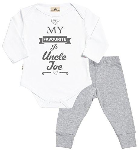 3f9cde957 Personalizados bebé Favourite Uncle Baby regalos personalizados para bebé -  body para bebés   pantalones para