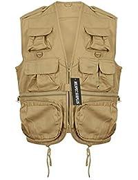 MILSPEC SURPLUS Men's Multi-Pocket Outdoor Fishing Hunting Utility Vest Waistcoat Gilet Jacket