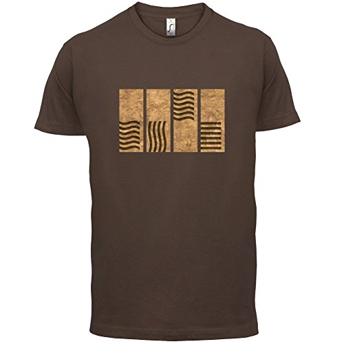 4 Element Stones - Herren T-Shirt - 13 Farben Schokobraun