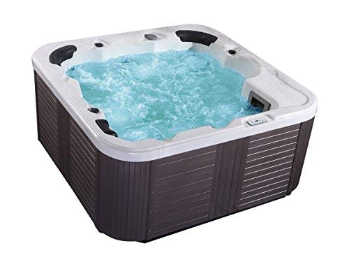 Outdoor Whirlpool Hot Tub Venecia color blanco con 44 MASAJE Boquillas + Calefacción + OZONO DESINFECCIÓN + Iluminación LED für 5-6 personas para para jardín/Terraza/EXTERIOR
