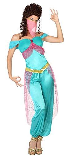 Arabische Kostüm Tänzerin - ATOSA 26418 Karnevalskostüm, Hellblau, 38/40