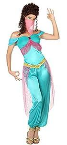 Atosa-26418 Disfraz Bailarina ÀRabe, Color celeste, M-L (111-26418)