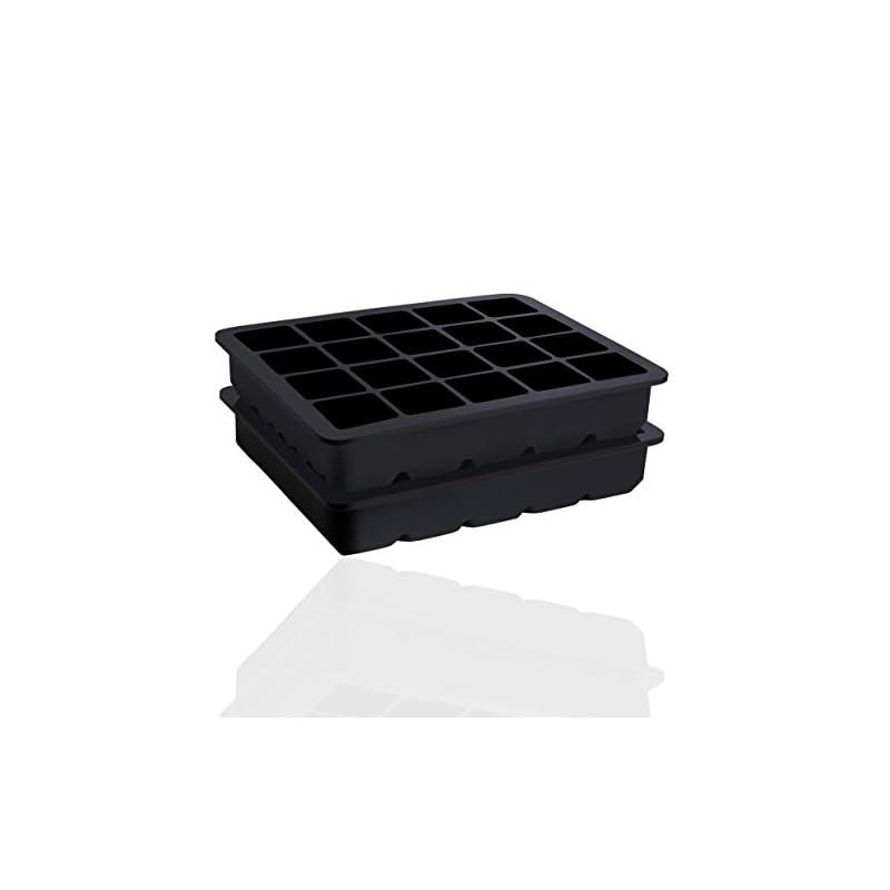 2er Pack Eiswrfelform Fr 20 Jumbo Eiswrfel 25 X 25 Cm Xl Eiswrfel Riesige Eiswrfelform Aus Silikon Bpa Frei