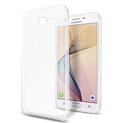 SLEO Samsung Galaxy J7 Prime, Samsung Galaxy On7 2016 Hülle , Ultra Dünn TPU Schale Schutzhülle Clear Case Soft Cover für Samsung Galaxy J7 Prime/On7 2016 (Ultra Slim - 1 mm) - Transparent