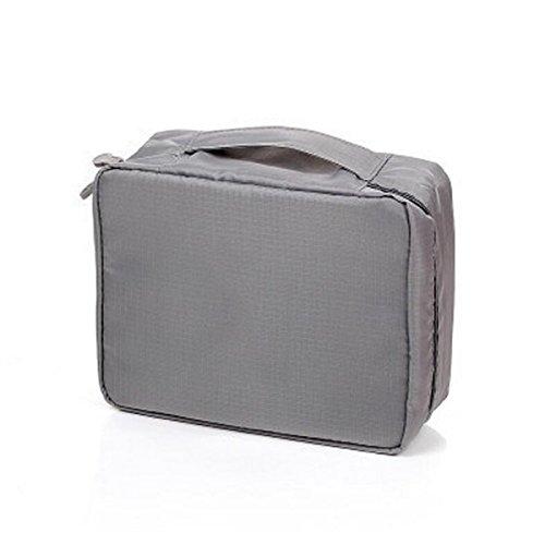 Sac De Lavage Voyage Sac à Cosmétiques Gros Paquet D'admission Paquet De Capacité Multifonction,Grey