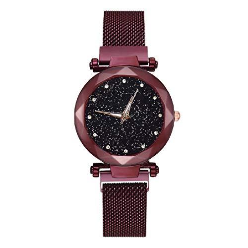 Uhren, Barlingrock Luxury Fashion Damen Quarz Strass Uhren - Starry Sky Damen-Armbanduhr mit dünnem Stahl-Magnetband für Mädchen