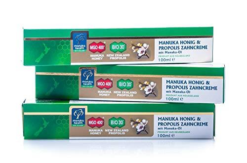 Manuka Health Manuka Zahncreme 100 g - 3 Stück -