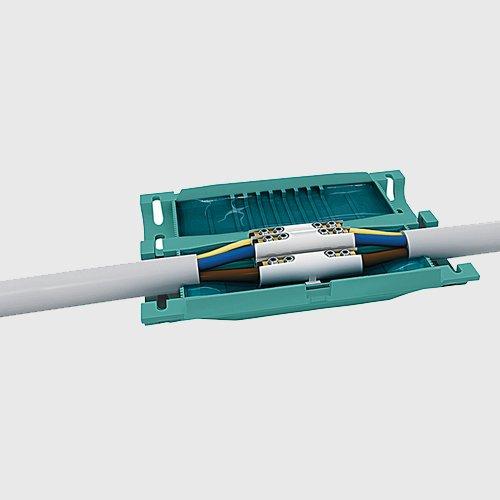 GEL Muffe Kabelverbinder Kabelgarnitur Verbindungsmuffe Außenbereich IP68 für 5-adrige Kabel bis 5 x 6 -