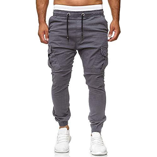Elecenty Pantaloni sportivi da uomo Casual Elastico Sport Pantaloni larghi tasche Pantaloni uomo tuta elastica casual jogging sport solidi larghi Uomo Pantaloni