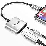 iNassen Blitz Jack Adapter für iPhone X 10 8/8 Plus 7/7 Plus iPad Stecker AUX 3,5 mm Adapter Konverter Kopfhörer Adapter Zubehör Kopfhörer Kabel Splitter Zubehör Metall Audio Jack Kopfhörer Kabel Ohrhörer Adapter Unterstützung iOS 11 oder später