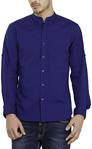 Highlander Men's Casual Shirt (13110001459400_HLSH008875_Medium_Ink Blue)  available at amazon for Rs.399